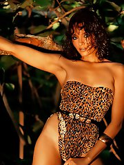 One of Playboy's favorite leading ladies, the exotically beautiful Barbara Carrera, stars in the Mickey Spillane thriller,�I, The Jury. From Marc